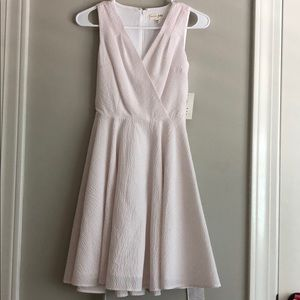 Maison Jules Seersucker Fit and Flare Dress